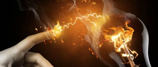 ожог электрическим током