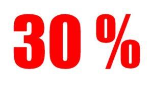 30% ожогов тела